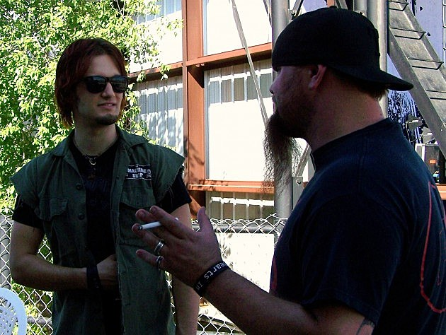 Rooster Of Lubbock's Rock Station 94.5 KFMX  And Arejay Hale Of Halestorm