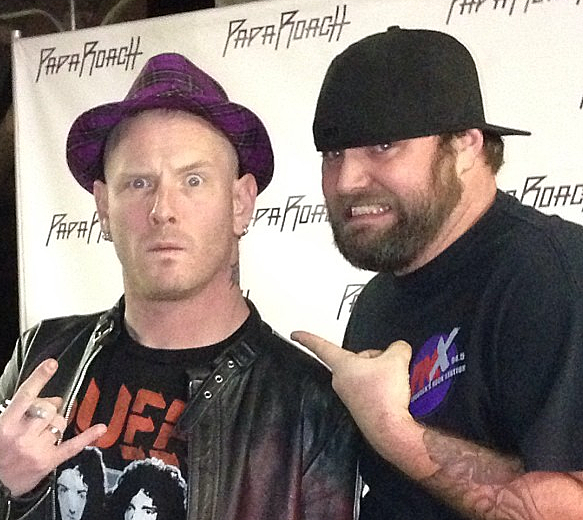 Rooster Of Lubbock's Rock Station KFMX And Corey Taylor Of Stone Sour