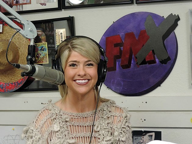 Nikki dee ray from lubbock s klbk cracked a mic at the fmx studio