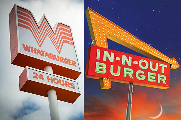 Whataburger and In-N-Out Burger