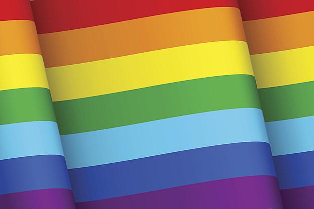 Flag with rainbow colors